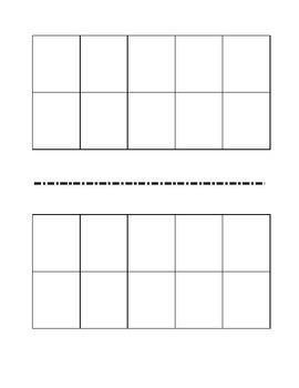 Printable tens frames