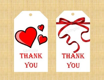 image relating to Thank You Gift Tags Printable identified as Printable thank your self Tags/Hearts Ribbons/ Thank oneself Items Tags Mothers and fathers Lecturers