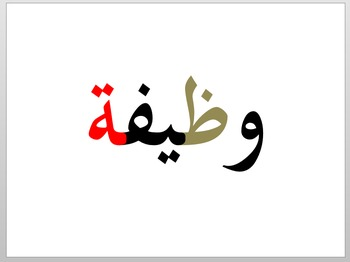Printable vocabulary flashcards for the book Alif Baa - Shami