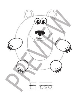 Vowels Animal Letter Craft Workbook