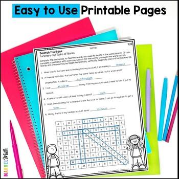 Printables: 4th Grade Personal Financial Literacy TEKS 4.10A-E