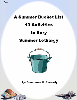 Summer Comprehension, Thinking & Writing Activities: A Summer Bucket List