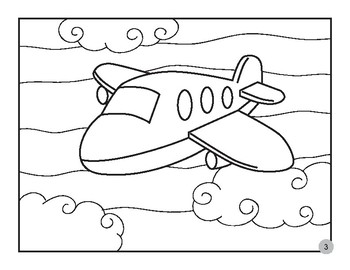 Printables Coloring Pages Transportation By Tricreation Tpt
