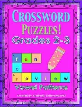 Spring Break review Printables Morning Work Crossword Puzz