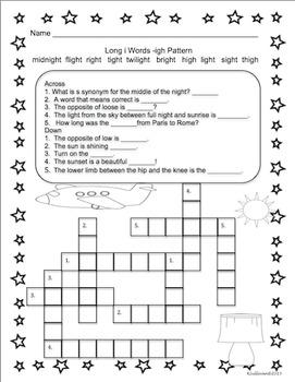 Printables  Crossword Puzzles No Prep