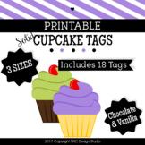 Cupcake Printable, Coloful Cupcakes Tags, Frames - Classroom Decoration