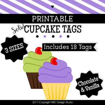 Cupcake Printable, Coloful Cupcakes Tags, Frames - Classroom Decoration