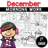 1st Grade Morning Work NO PREP December Worksheets