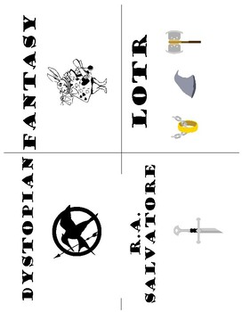 Printables- Library Genre Book Labels (Sci-Fi, Fantasy, LOTR, and more!)