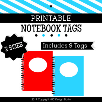 Notebook Printable, Frames, Tags, School Supplies - Classroom Decoration