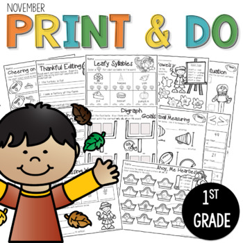 Printables November  Print and Do- No Prep Math & Literacy