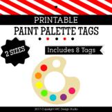 Printable, Paint Printable, Tags, Frame, Paint Palette - Classroom Decoration