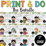 Printables  Print and Do- THE BIG BUNDLE- No Prep Math and