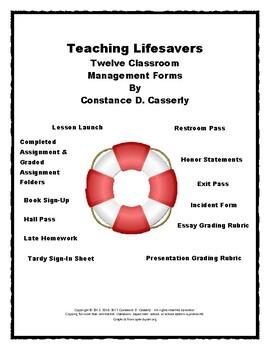 Back to School Forms: Teaching Lifesavers-Twelve Classroom