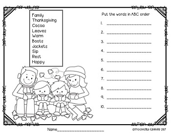 Printables and Literacy Fun for November