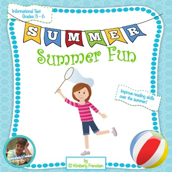 Printables and Task Cards for Informational Text Review: Summer Fun!