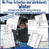 Winter No Prep Activities   Literacy and Math Fun!