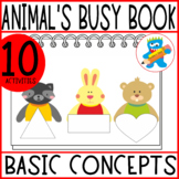 Printables to make an Animals Busy Book, 10 fun and hands-
