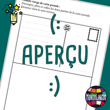 Printables to teach French/FFL/FSL: Carte postale/Postcard