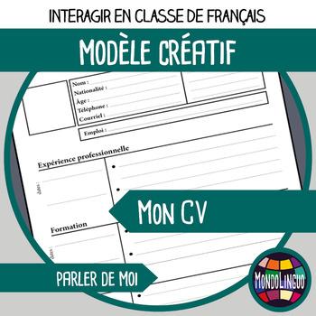 Printables to teach French/FFL/FSL: Mon CV/my resume
