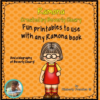 Printables to use with Any Ramona Quimby book
