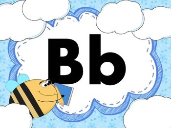 Print Letter Posters - Bee Theme