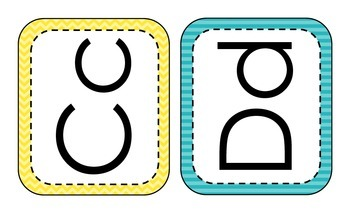 Printed Alphabet