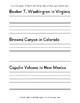 Printed Alphabet Handwriting Copybook U.S. Monuments