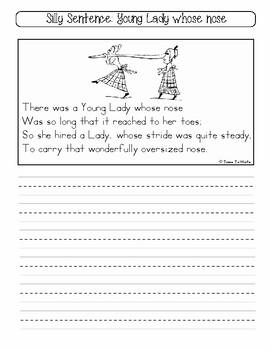 Printed Alphabet Handwriting Practice: Silly Sentence Copybook