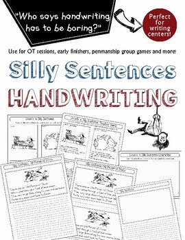 Printed Alphabet Handwriting Practice: Silly Sentence Copybook