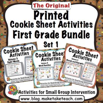 Printed Cookie Sheet Activities- First Grade Bundle