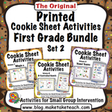 Printed Cookie Sheet Activities- First Grade Bundle Set 2
