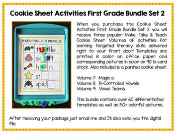 Printed Cookie Sheet Activities- First Grade Bundle Set 2