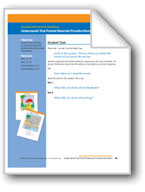 Printed Materials Provide Information (assessment)