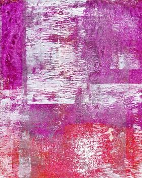 Printed Pattern Image Purple, Pink & White