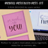 Printed Positivity Post-Its