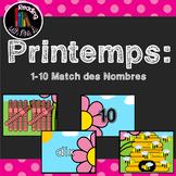 Printemps 1-10 Match des Nombres