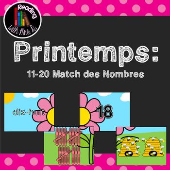 Printemps 11-20 Match des Nombres