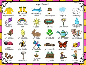 Printemps:  3 Spring Themed Vocabulary Games in French