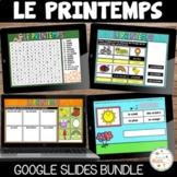 Printemps - Ensemble Google Slides - French Spring Digital