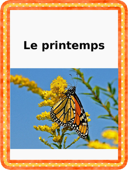 French: Printemps: Cartes éclairs, Core French & French Immersion, PRIMAIRE