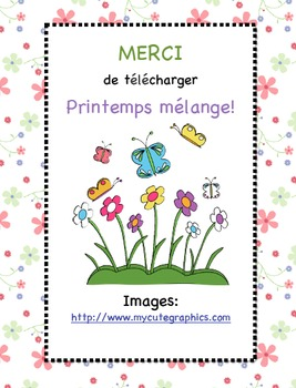 Printemps Mélange! (Printemps Letter Scramble)