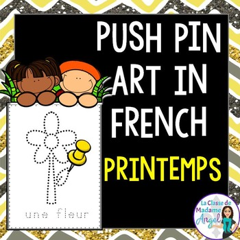 Printemps:  Spring Themed Pinning Pages in French