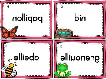 Printemps:  Spring Themed Vocabulary Center - Mots miroirs