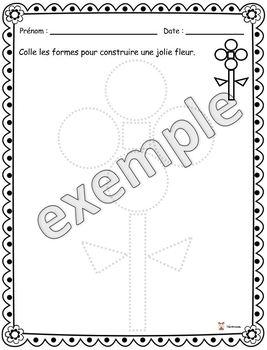 Formes: construire une fleur