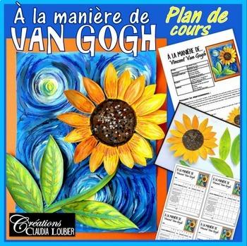 Automne: À la manière de Vincent Van Gogh. Activité d'arts plastiques