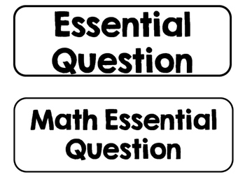 Printer Friendly 2nd Grade Go Math Essential Questions for the Year!