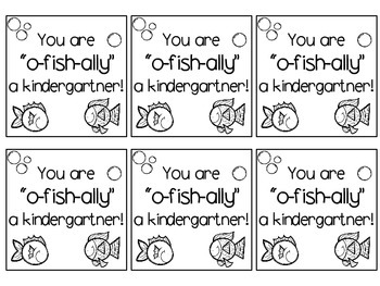 "Printer Friendly Back to School Treat Label ""You are 'o-fish-ally' a..."""
