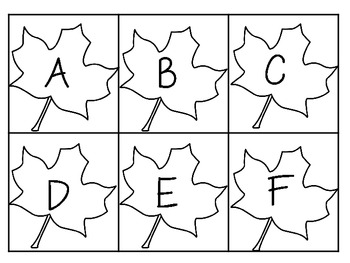 Printer Friendly Fall Leaves ABC's & 123's