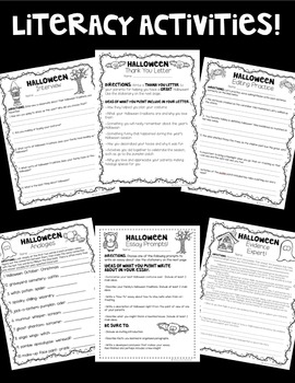 Printer-Friendly Halloween Pack! Math AND Literacy Activities! *Grades 4-5*